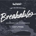 Breakable Free Typeface