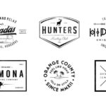6 Typographic Logo Badges (PSD)