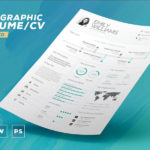 Infographic Resume Template (INDD, IDML, PSD, DOCX, PDF)