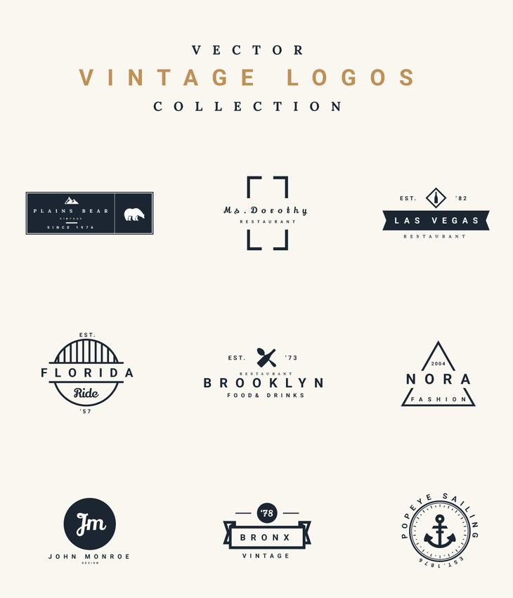 Free Vector Vintage Logos