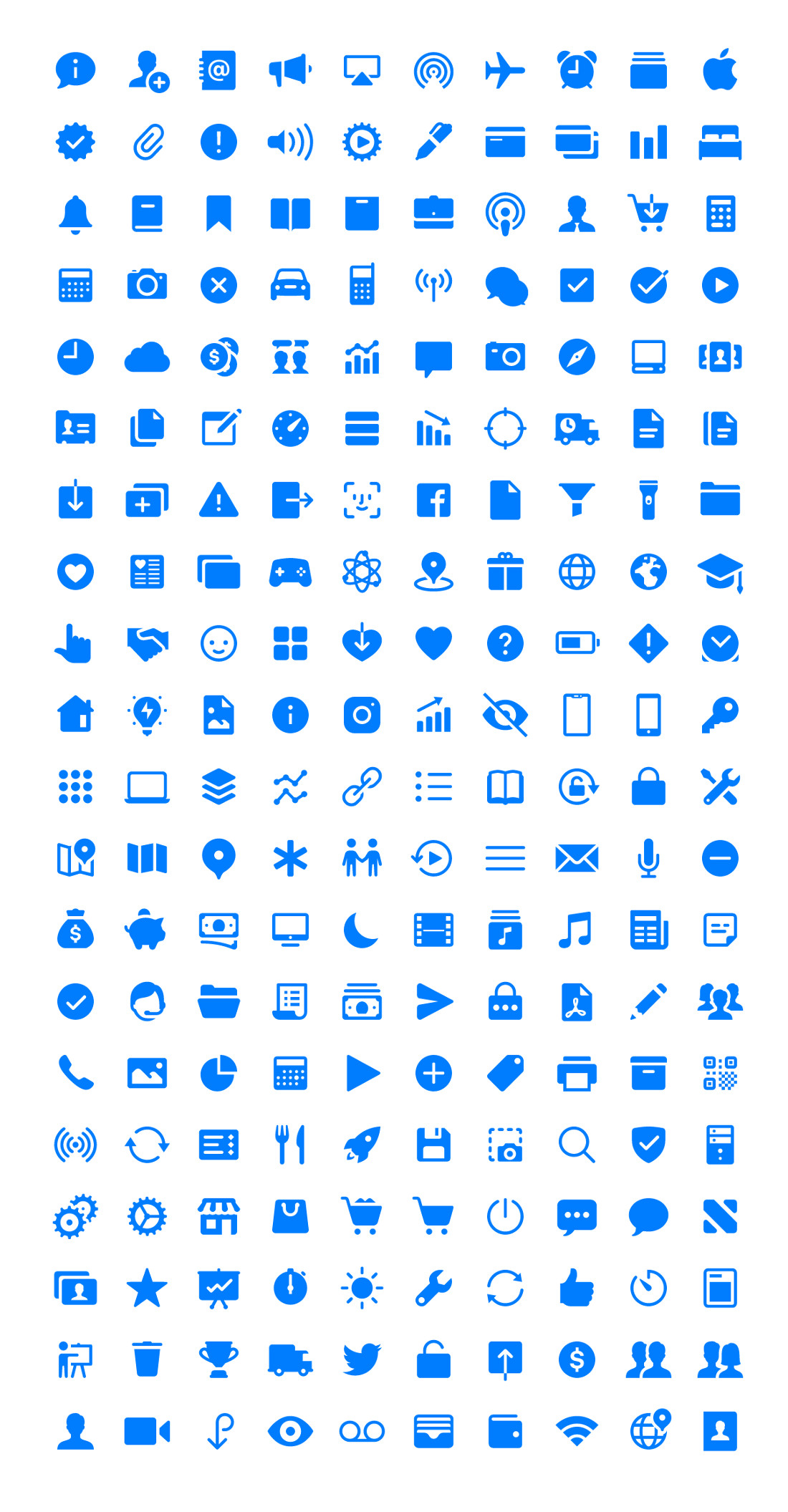 iOS 11 Glyphs