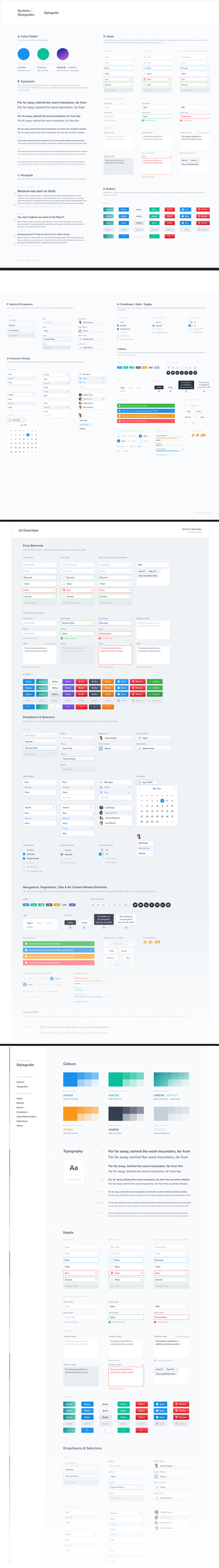 Nested Symbols and Styleguides Sketch Template