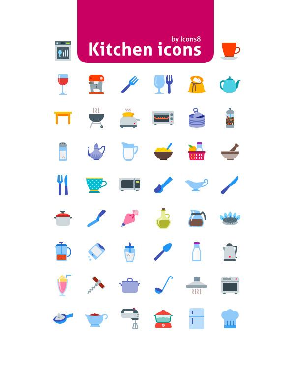 Free 50 Kitchen Icons