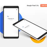 Google Pixel 2 XL Mockup (Top & Isometric Views)