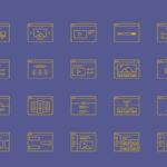 Wireframe Icon Set (20 Icons, AI, EPS)