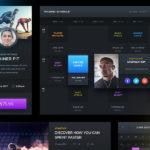 Free Dark Sports UI (PSD)