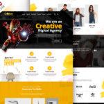 Creative Agency Portfolio Website PSD Template