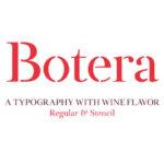 Botera Free Typeface