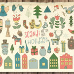 Free Scandi Holidays Vector Pack
