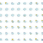 The Color Icons Set – Weather (120 Icons, AI, EPS)