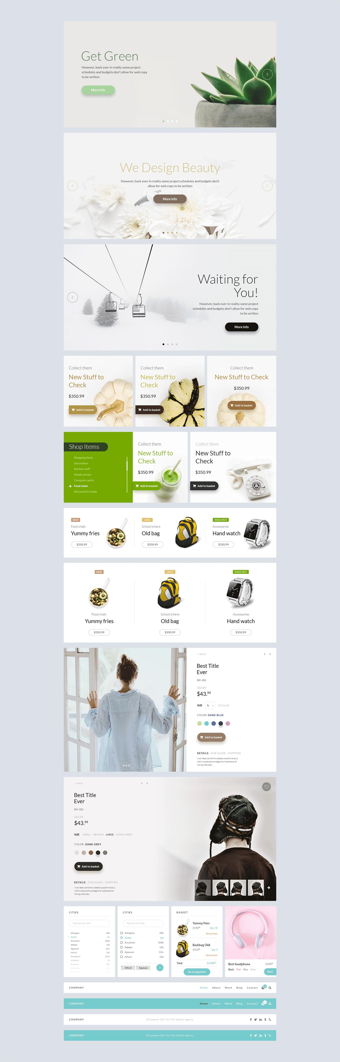 Free Web eCommerce UI Kit