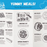 Yummy Meals Vector Set (Top and Front View)