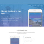 Free PSD – Eros App Landing Page