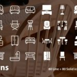 Home Furniture Icon Set (160 icons)