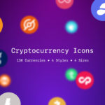Cryptocurrency Icons (130 Currencies, PNG, SVG)