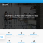 Mastia – Multipurpose Business Web Template (Free PSD)