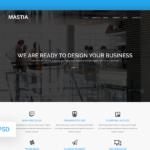 Mastia – Multipurpose Business Web Template (Free PSD)