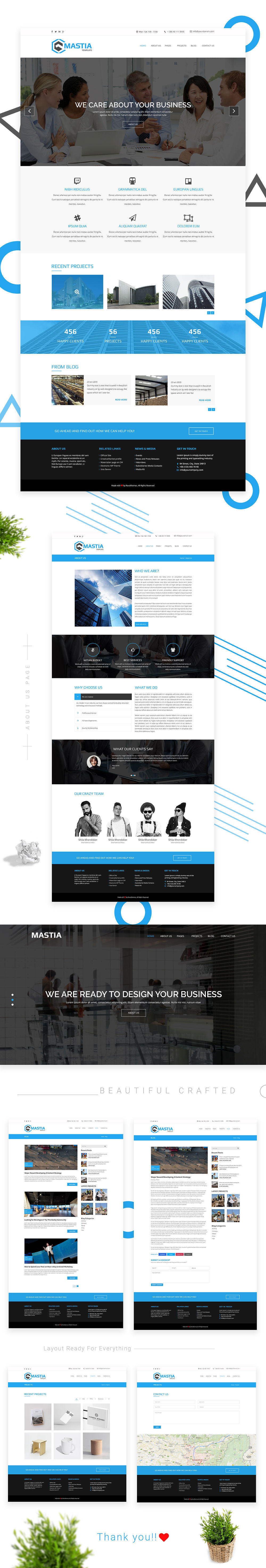 Mastia - Multipurpose Business Web Template Free PSD by Revol ThemesMastia - Multipurpose Business Web Template Free PSD