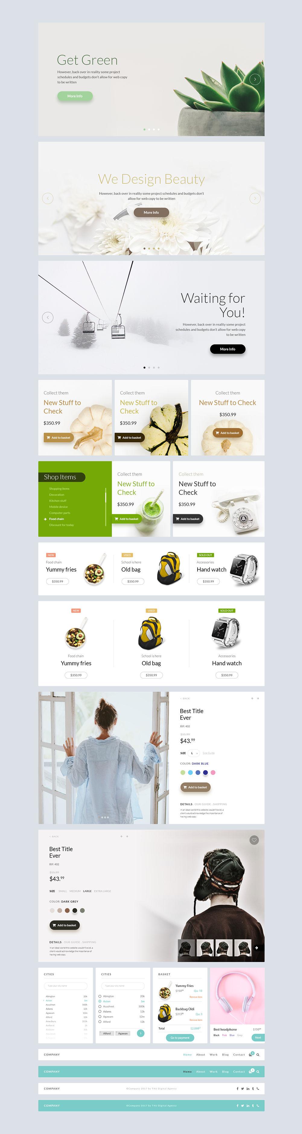 Free PSD Web UI Kit