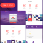 Free PSD – Neuzort Landing Page Template