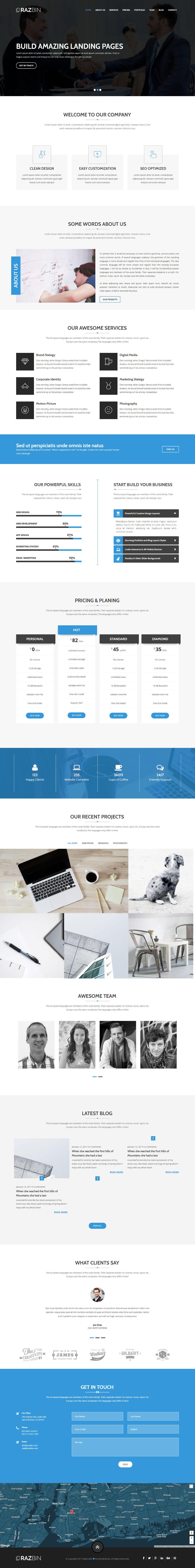 Razbin - Digital Agency Web Template