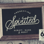 Spirited 6 Fonts Set (Script, Serif, Sans + Swash)