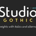 Studio Gothic Typeface