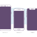 Device Illustrations (Samsung S7, S8, iPhone X)
