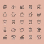 Free 25 Coffee Theme Icons (AI)
