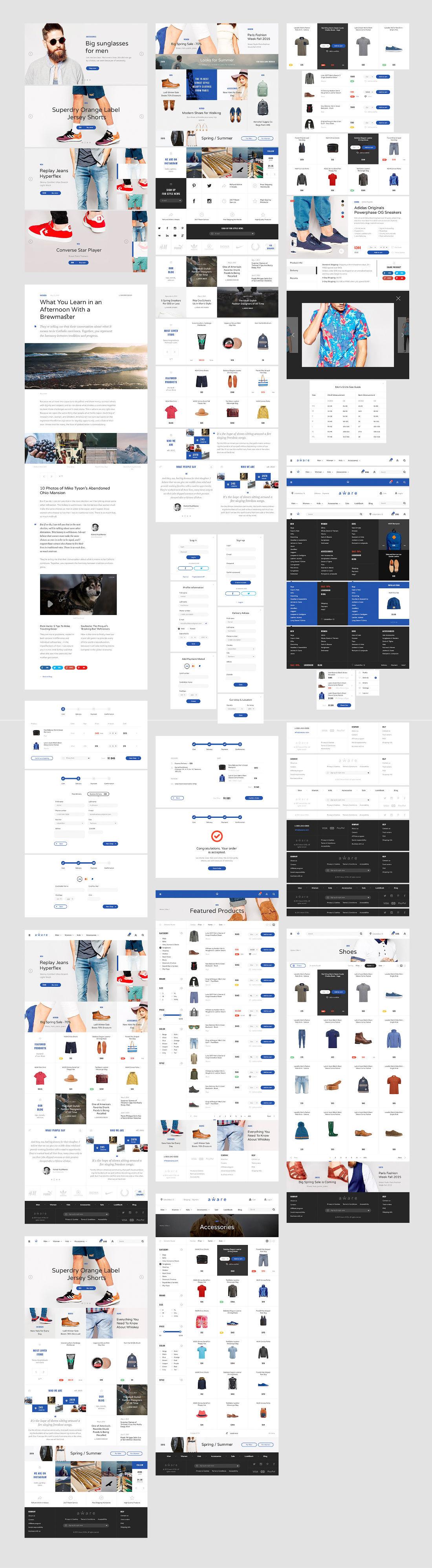Free Aware eCommerce UI Kit