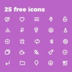 Bold Purple Icons (Free Demo: 25 Icons)