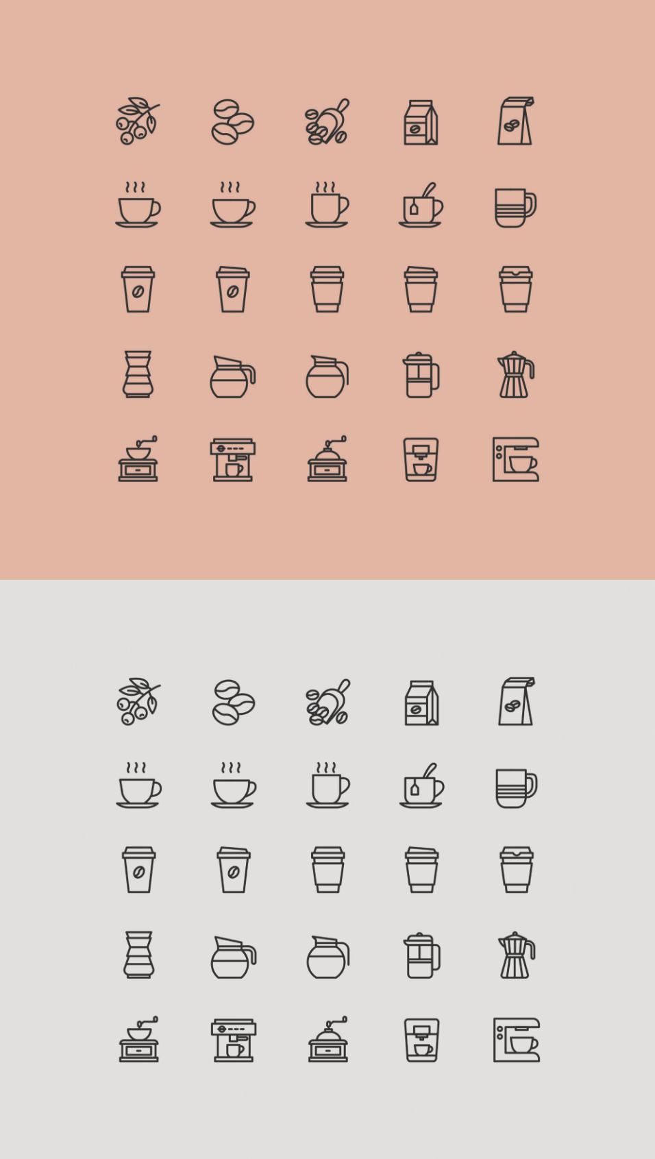 Free 25 Coffee Theme Icons
