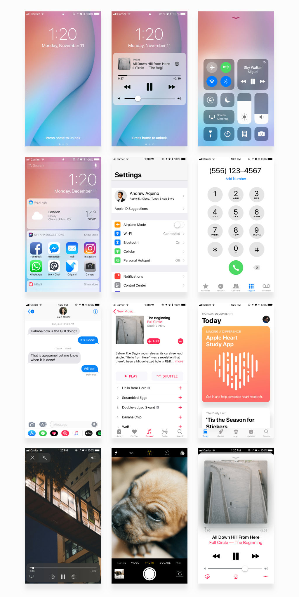 Free iOS 11 iPhone GUI