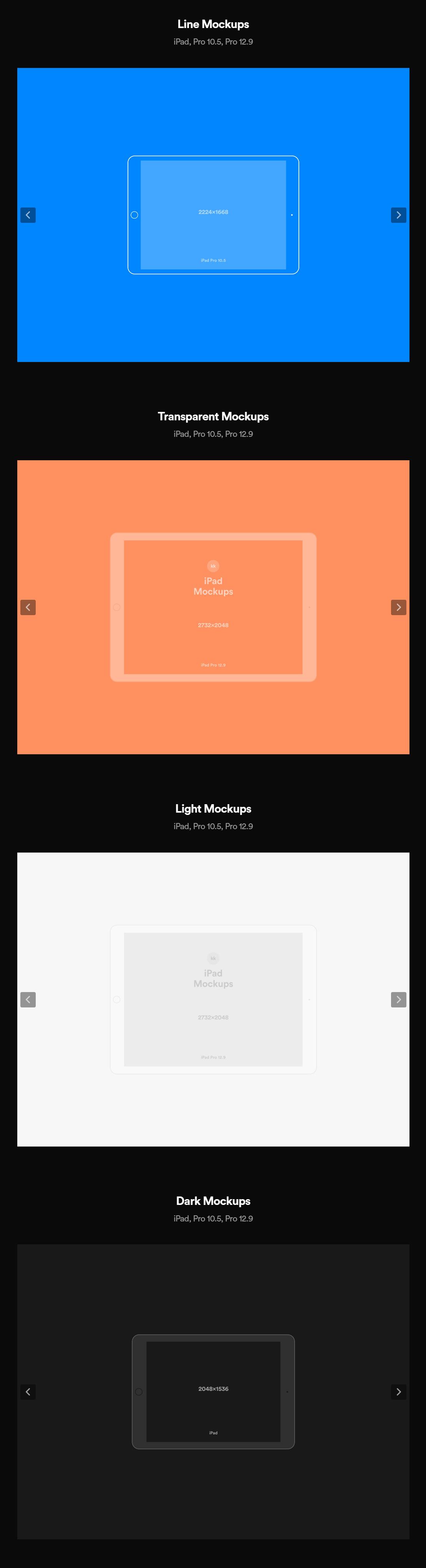 Free iPad Vector Presentation Mockups