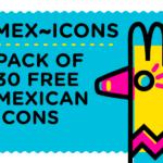 Mex~icons Icon Design (30 Icons, PNG, EPS, AI)