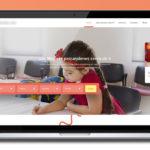 Free School Landing Page Website PSD