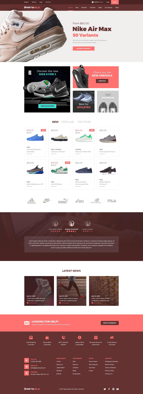 Free Sportshold eCommerce Landing Page