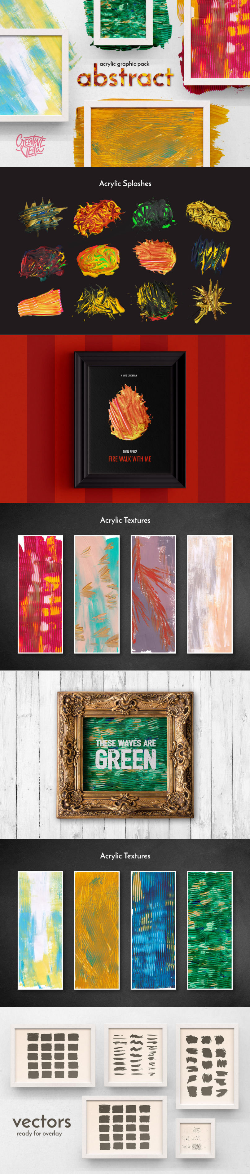 Free Abstract Acrylic Graphic Pack
