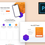 Free Modern App Landing Page PSD Template
