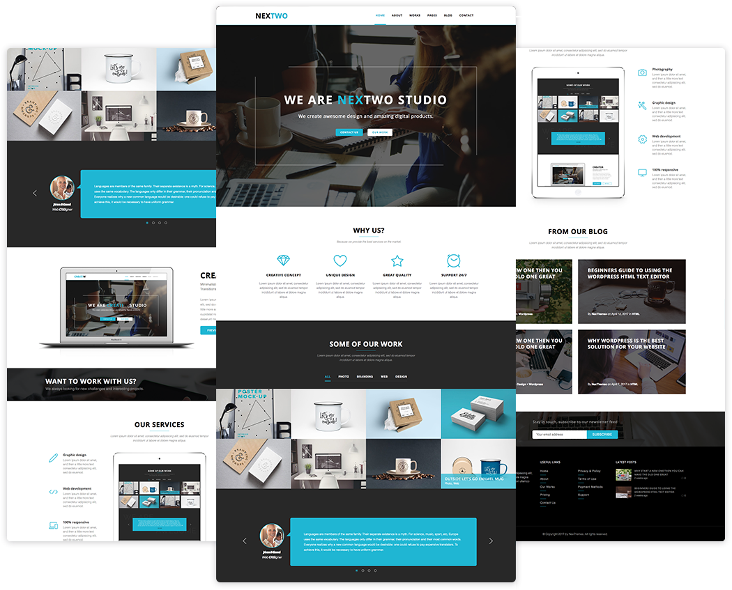 Free Nextwo Business Website Template