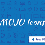 Free Mojo – A Line Icon Set (55 Icons, 2 Styles, PSD)