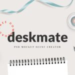 Deskmate – Free PSD Mockup Scene Creator