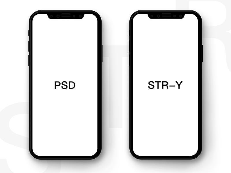 Free Minimalist iPhone X PSD