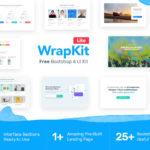 Wrapkit Lite – Free Bootstrap 4 UI Kit (HTML/CSS)