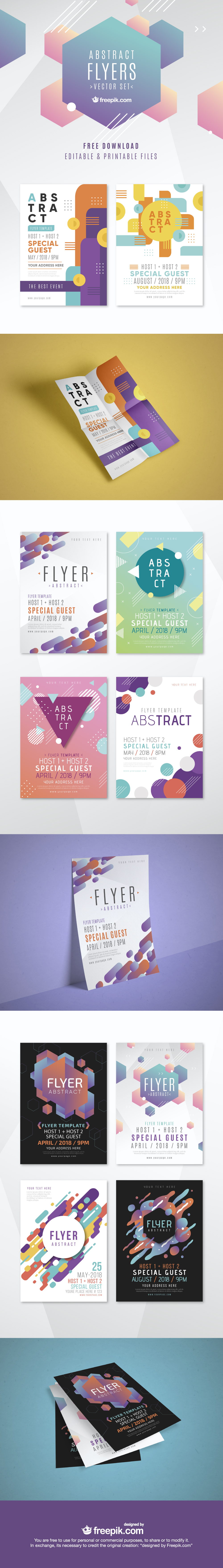 Free Abstract Flyer Templates for Events