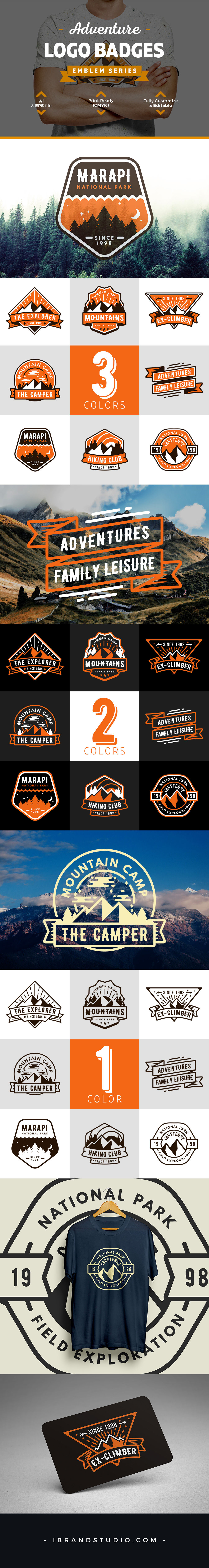 Free 8 Adventure Logos and Badges
