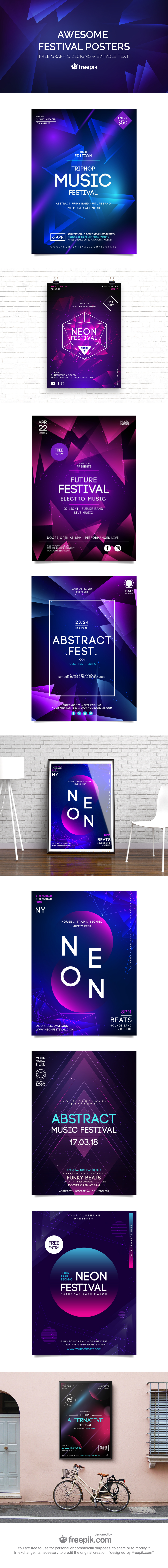 Free Awesome Festival Poster Templates