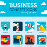 Business Icon Set For The Startup World (28 Icons, 5 Formats)