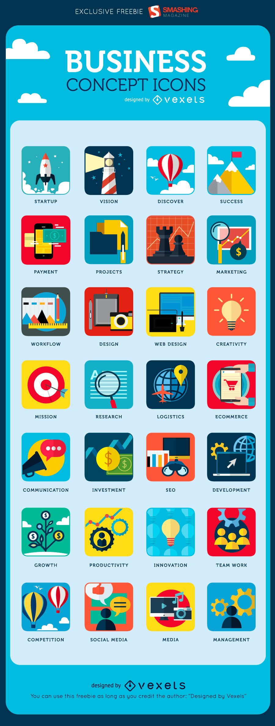 Free Business Icons for Startup World