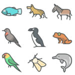 Extinct Animals Icon Set